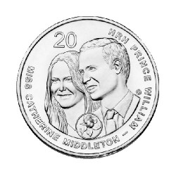 2011 20c Royal Wedding Uncirculated Coin