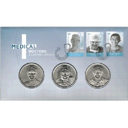 2012 Medical Doctors - A Lasting Legacy 3 Medallion & Stamp Cover PNC