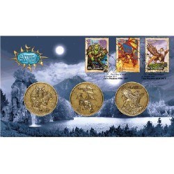2011 Mythical Creatures - Troll - Dragon - Griffin 3 Medallion & Stamp Cover PNC