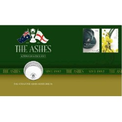 2010 / 2011 20c The Ashes Coin & Stamp Cover PNC