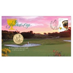 2011 $1 The Presidents Cup Coin & Stamp Cover PNC
