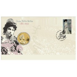 2011 $1 Dame Nellie Melba Coin & Stamp Cover PNC