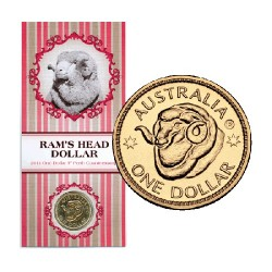 2011 $1 Ram's Head ANDA P Perth Counterstamp Unc Coin in Card