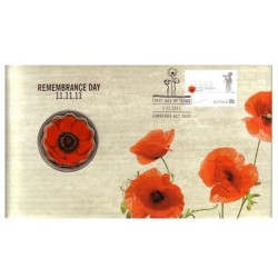 2011 $5 Remembrance Day 11.11.11 Limited Edition Coin & Stamp Cover PNC