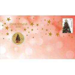 2011 $1 Christmas Coin & Stamp Cover PNC