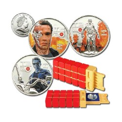 2011 $5 Terminator 2 - 3 Coin Collectors Set