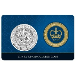 2010 50c Royal Engagement Unc Coin in Card