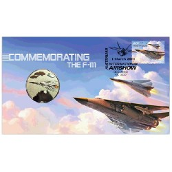 2011 Aviation F-111 Coin & Stamp Cover PNC