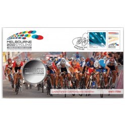 2010 UCI World Cycling Championships Medallion & Stamp Cover PNC