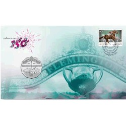 2010 50c 150th Anniversayr of the Melbourne Cup Coin & Stamp Cover PNC
