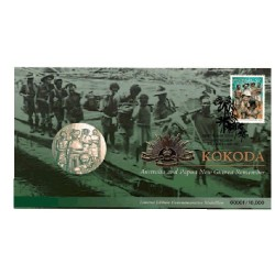 2010 Kokoda Trail - Australian & PNG Remember LImited Edition Medallion & Stamp Cover PNC
