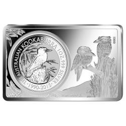 2015 $1 25th Anniversary Kookaburra Silver Coin & Ingot