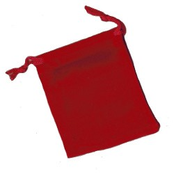Red Velvet Coin / Jewellery Pouch with drawstring 7x9cm