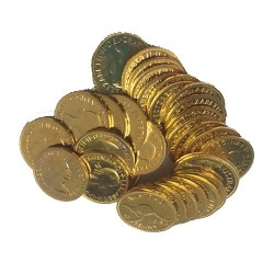 1951 Gold Plated Australian Penny Each