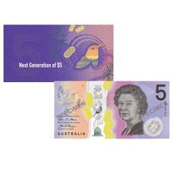 2016 $5 RBA Folder Next Generation Unc Banknote