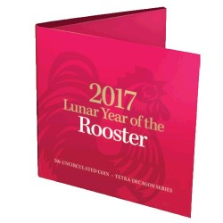 2017 50c Year of the Rooster Tetra-Decagon Coin in Card