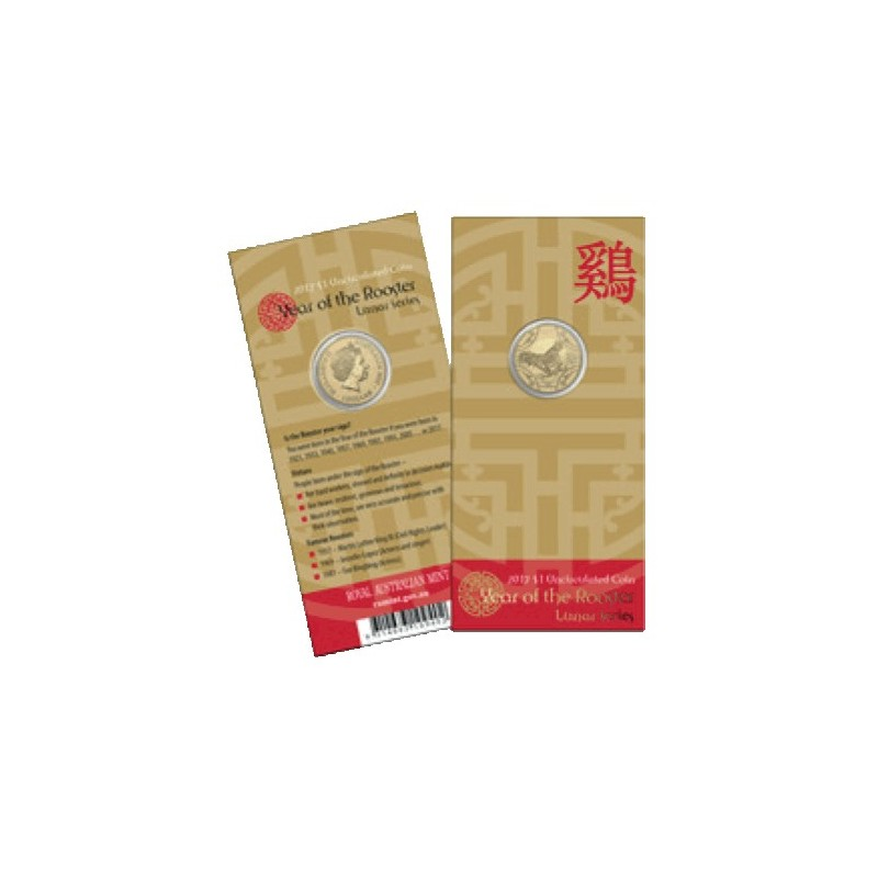 2017 $1 Year of the Rooster Al/Br Uncirculated Coin