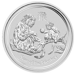 2016 $1 Year of the Monkey 1oz Silver Bullion Coin