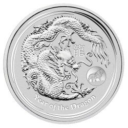 2012 $1 Year of the Dragon Lion Privy Mark 1oz Silver Bullion Coin