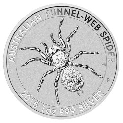 2015 $1 Australian Funnel Web Spider 1oz Silver Bullion Coin