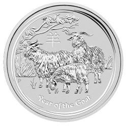 2015 $1 Australian Lunar Series II Year of the Goat 1oz Silver Bullion Coin
