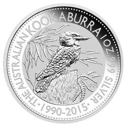 2015 $1 Australian Kookaburra 25th Anniversary 1990-2015 1oz Silver Bullion Coin