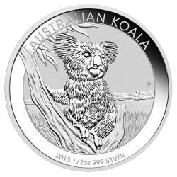 2015 50c Australian Koala 1/2 oz Silver Bullion Coin