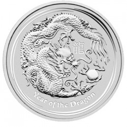 2012 50c Year of the Dragon 1/2 oz Silver Bullion Coin