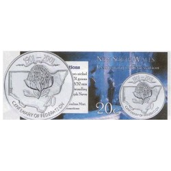 2001 20c New South Wales Centenary of Federation Unc Coin in Pack
