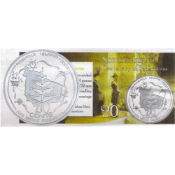 2001 20c Norfolk Island Centenary of Federation Unc Coin in Pack