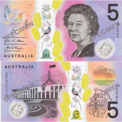 2016 $5  Next Generation Polymer Banknote