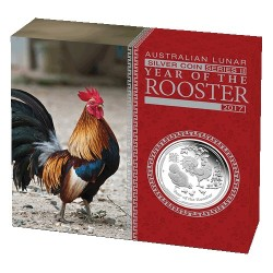 2017 $1 Australian Lunar Year of the Rooster 1oz Silver Proof Coin