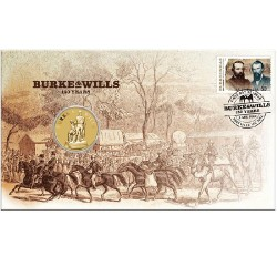 2010 $1 Burke & Wills Coin & Stamp Cover PNC