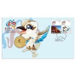 2010 $1 Shanghai World Expo Australian Pavillion Coin & Stamp Cover PNC