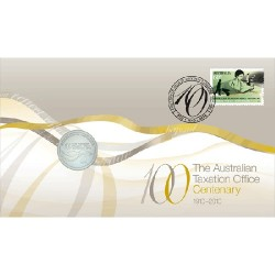 2010 20c Centenary of the Australian Taxation Office Coin & Stamp Cover PNC