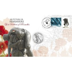 2010 20c Lost Soldiers of Fromelles Coin & Stamp Cover PNC