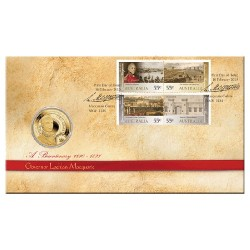 2010 $1 Govenor Lachlan Macquarie Coin & Stamp Cover PNC