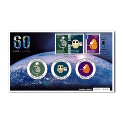 2009 Earth Hour Limited Edition Medallion & Stamp Cover PNC