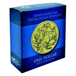 2014 $1 World Money Fair Mob of Roos Proof Coin