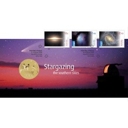 2009 $1 Stargazing the Souther Skies Coin & Stamp Cover PNC