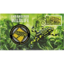 2016 Endangered Wildlife Southern Corroboree Frog Limited Edition Medallion & Stamp Cover PNC