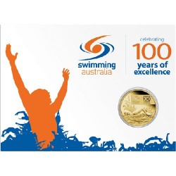 2009 $1 100 Years of Swimming Excellence Uncirculated Coin in Card