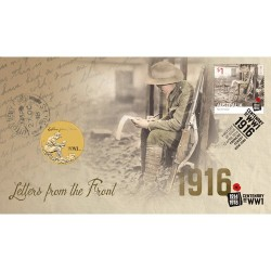 2016 $1 Postmen of WWI Coin & Stamp Cover PNC