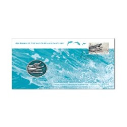 2009 Dolphins of the Australian Coastline Medallion & Stamp Cover PNC