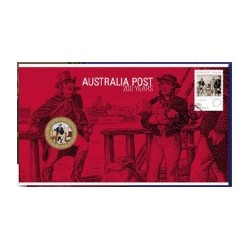 2009 $1 Australia Post 200 Years - Letterbox Coin & Stamp Cover PNC