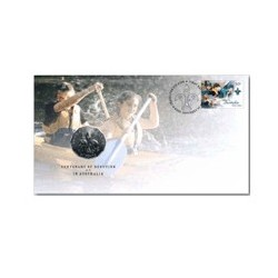 2008 50c Centenary of Scouts Coin & Stamp Cover PNC