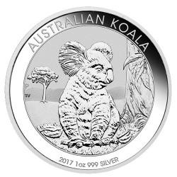 2017 $1 Australian Koala 1oz Silver Bullion Coin in Capsule
