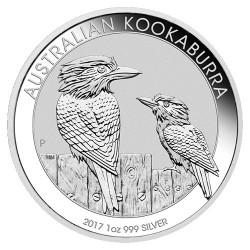 2017 $1 Australian Kookaburra 1oz Silver Bullion Coin