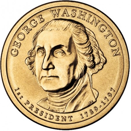 2007 USA $1 George Washington D Mint Presidential Dollar Unc Coin