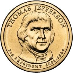 2007 USA $1 Thomas Jefferson D Mint Presidential Dollar Unc Coin